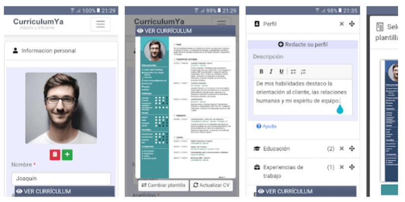 app para hacer curriculum