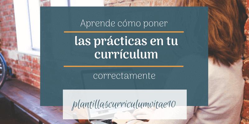 como poner en el curriculum las practicas