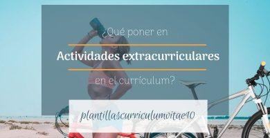 Actividades extracurriculares en el currículum