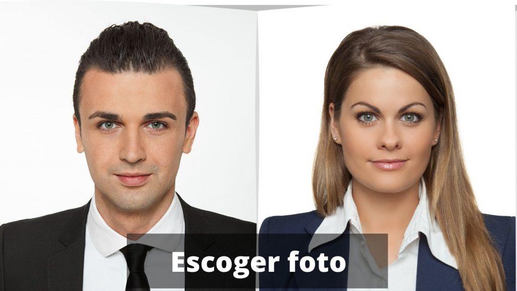 cómo rellenar un cv, primero seleccionar foto
