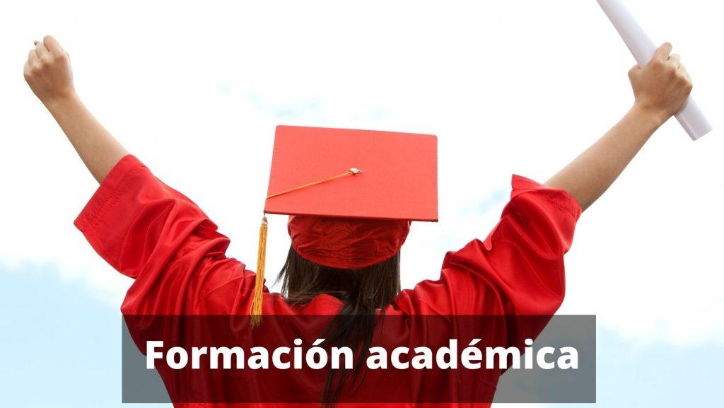 colocar la formación académica en la plantilla currículum vitae para rellenar