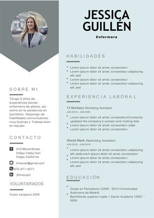 ejemplo curriculum enfermeria