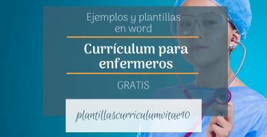 curriculum enfermero