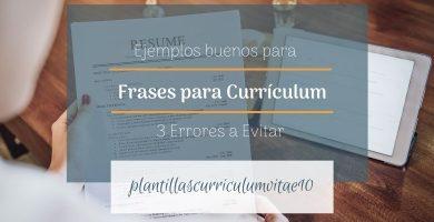 Frases para currículum