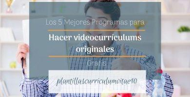 programas para hacer videocurriculums originales