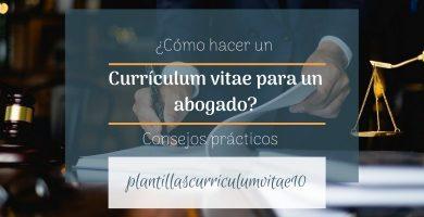 curriculum vitae abogado
