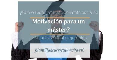 ejemplo de carta de motivación para un master